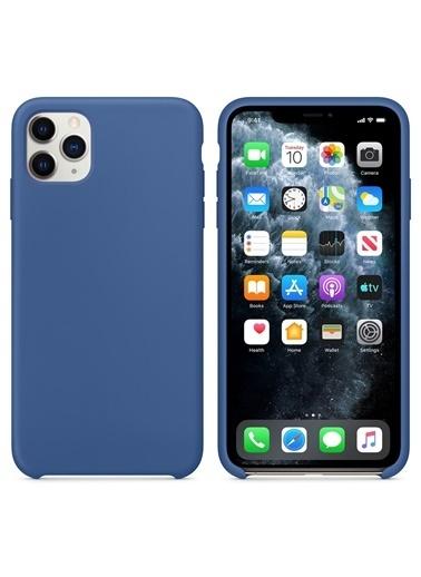 Bludfire Apple iPhone 11 Pro (5.8'') Kılıf Liquid Lansman Silikon Çini Mavisi Mavi